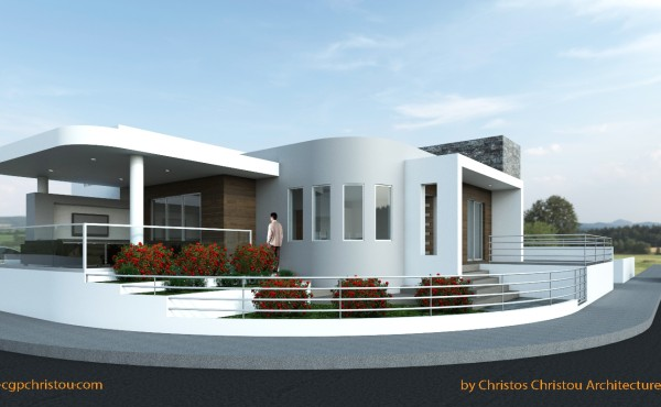3d view 2 house in livadia larnaca